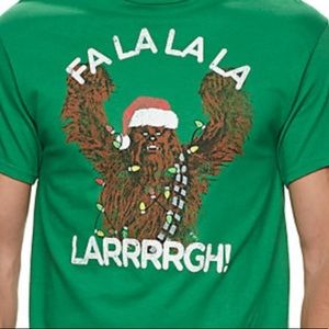 Star Wars Chewy Fa La Larrrrgh NEW! Holiday shirt